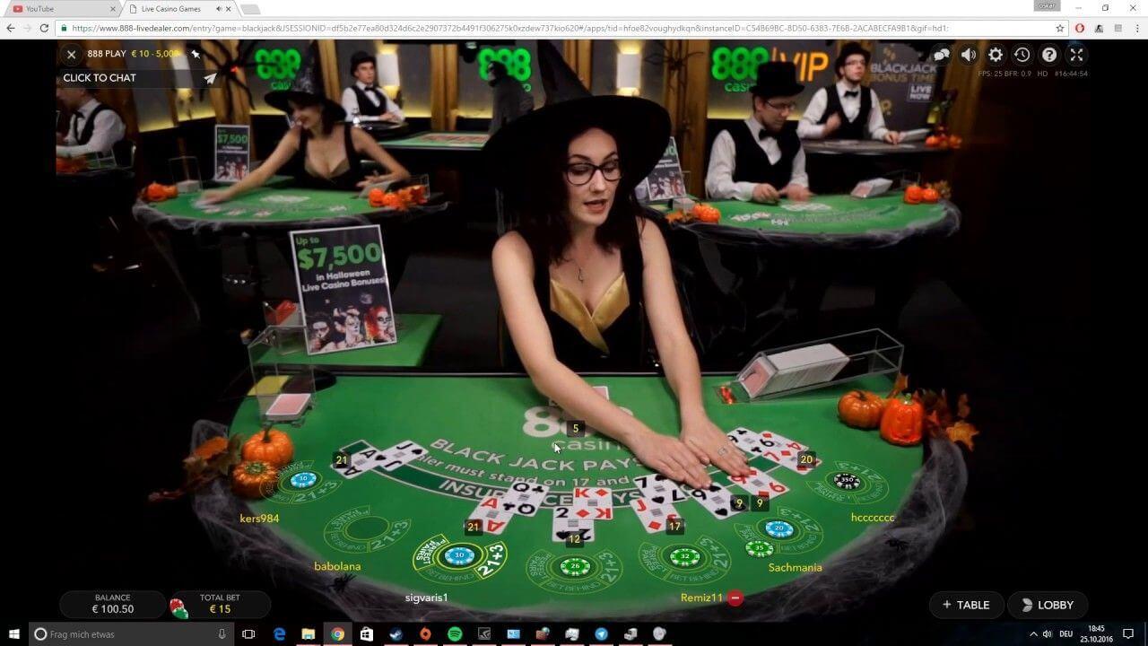 live casino halloween